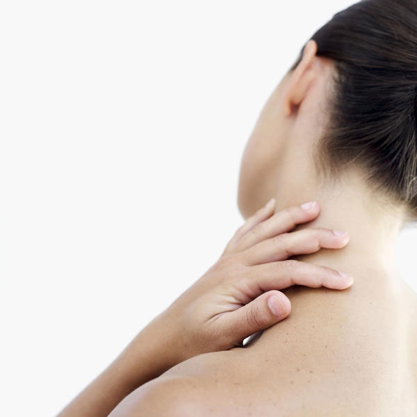 Person having neck pain