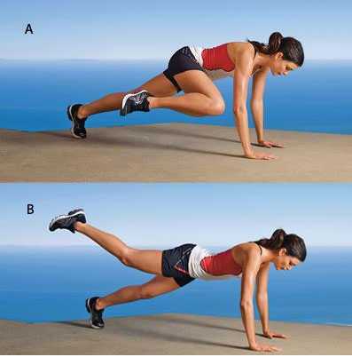 Plank Curl demonstration