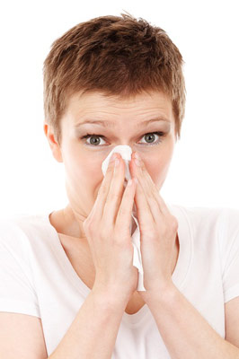 Flu infected woman