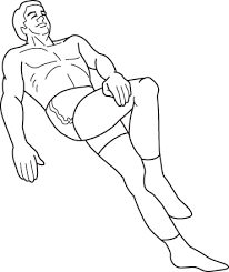 Supine Crossed Leg Stretch