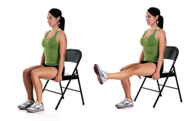 Chair knee extensions