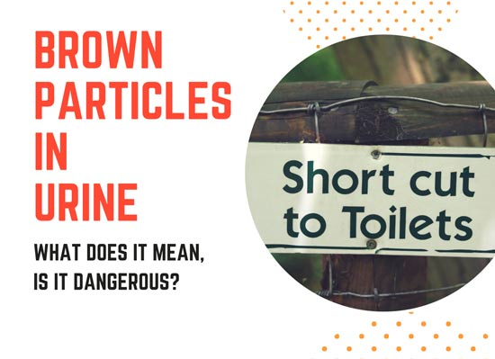 are brown particles in urine dangerous